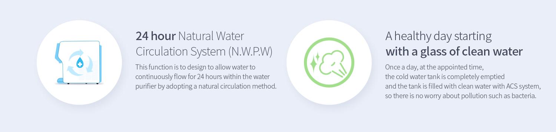 Hệ thống tuần hoàn giúp nước tính khiết
